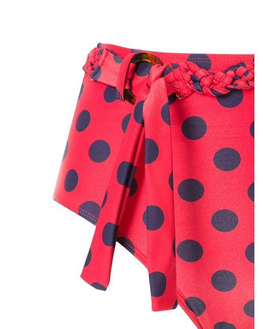 Duskii Women's Red Cerise High-rise Bikini Bottoms