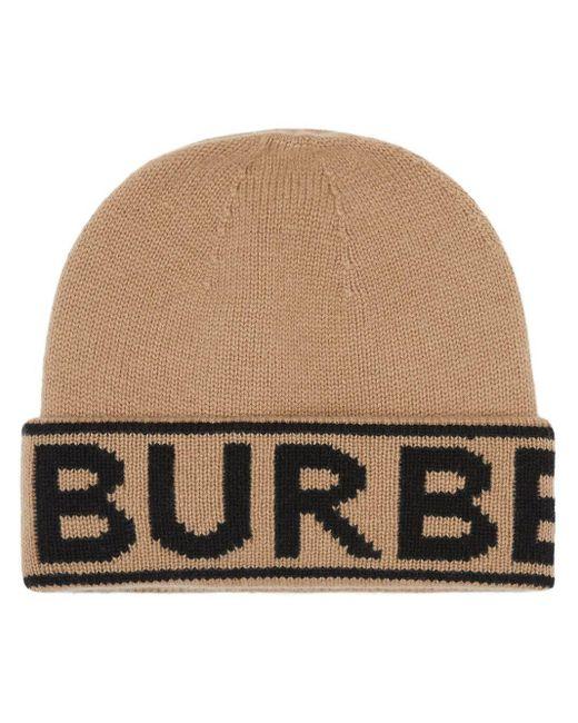 Burberry ロゴ ビーニー Brown