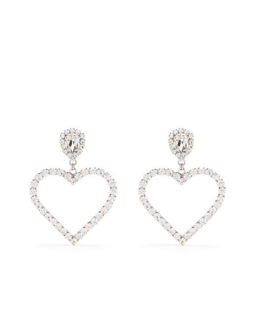 Boucles d'oreilles à ornements en cristal Alessandra Rich en coloris Metallic