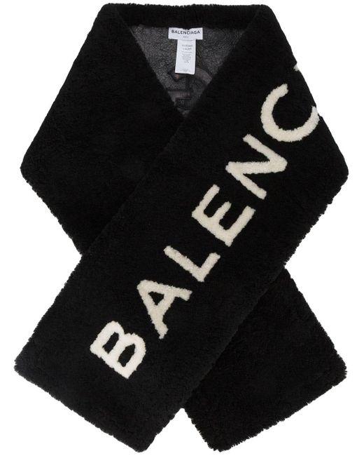 Balenciaga ロゴモチーフ ファーストール Black