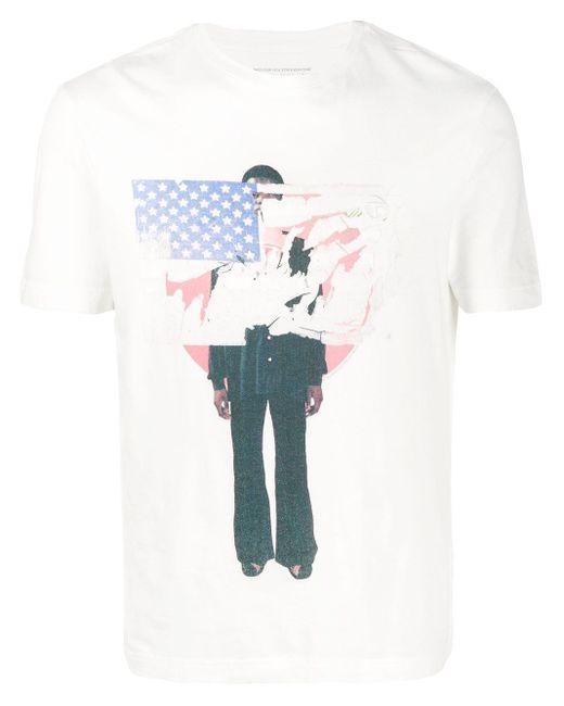 T-shirt con stampa di Telfar in White
