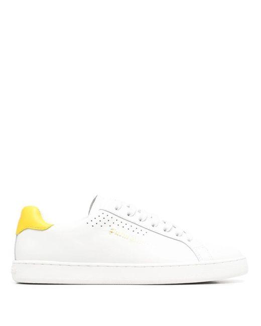 Palm Angels White Tennis Logo-embossed Low-top Sneakers