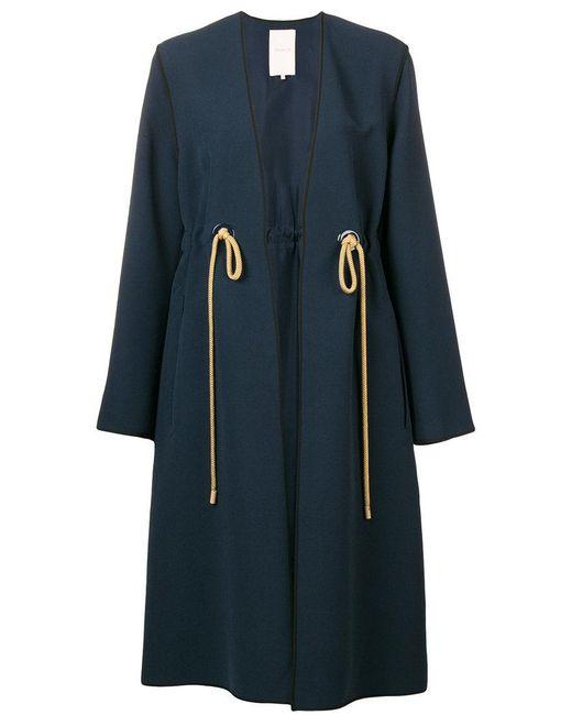 Roksanda - Blue Belted-waist Fitted Coat - Lyst