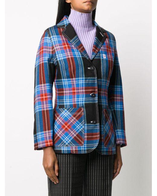 CHARLES JEFFREY LOVERBOY チェック シャツジャケット Blue