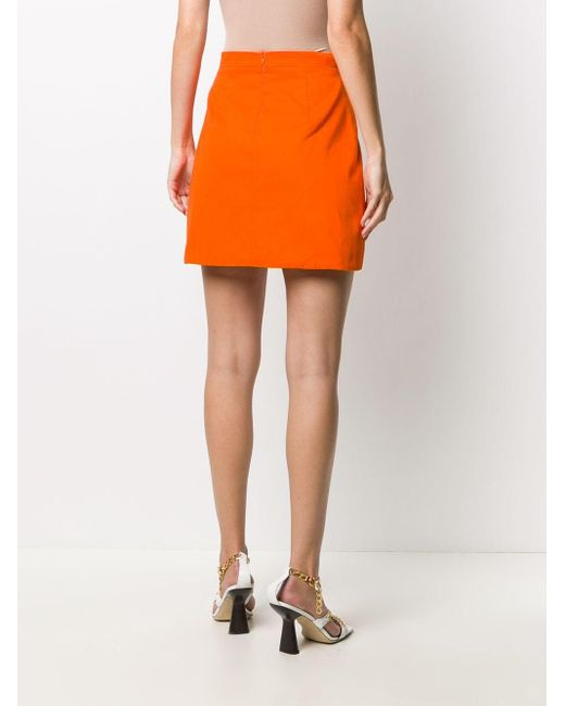 Loulou Aライン ミニスカート Orange