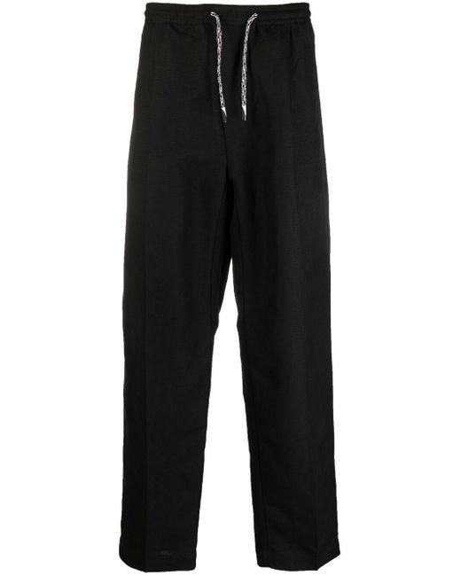 メンズ Emporio Armani ドローストリング クロップドパンツ Black