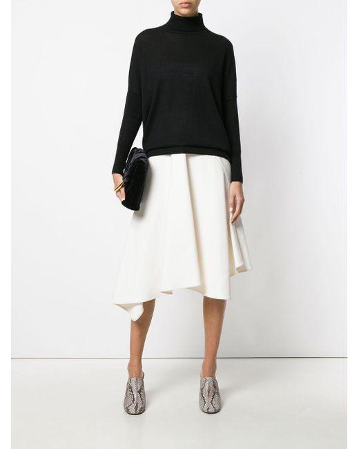 N.Peal Cashmere カシミア タートルネックセーター Black