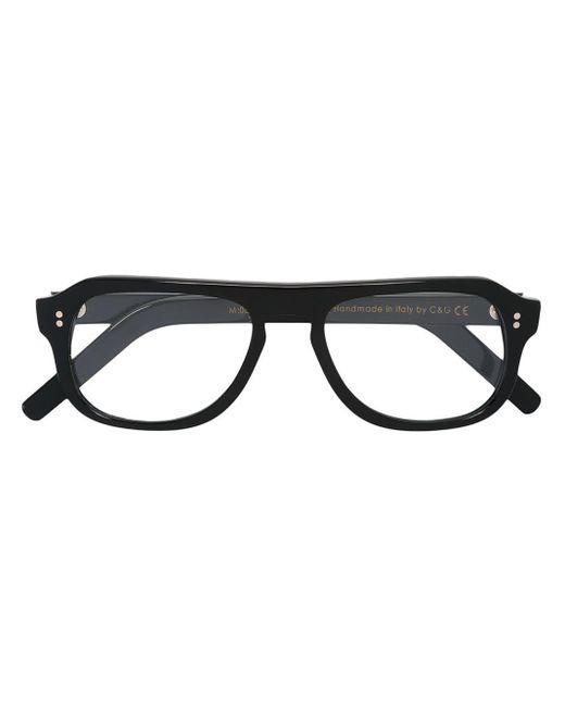 メンズ Cutler & Gross スクエア眼鏡フレーム Black