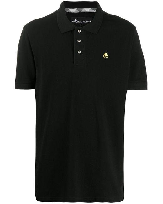 メンズ Moose Knuckles ショートスリーブ ポロシャツ Black