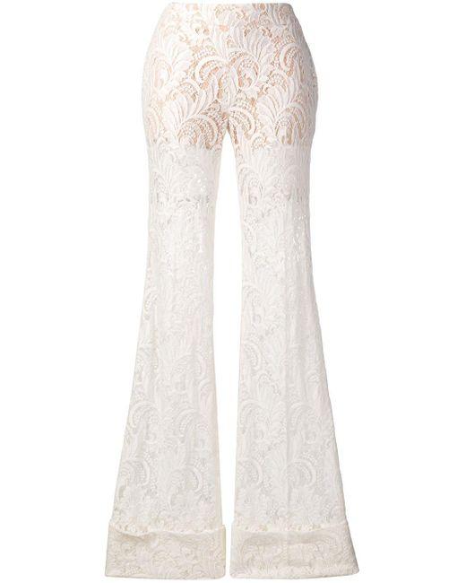 Stella McCartney White Amira Trousers