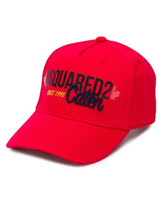 メンズ DSquared² ベースボール キャップ Red