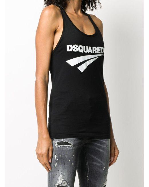 DSquared² ロゴ タンクトップ Black