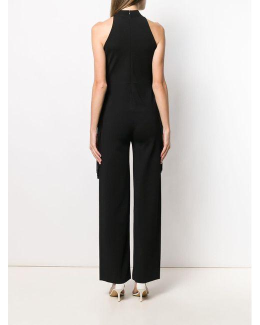 Stella McCartney Black Jumpsuit mit Fransen