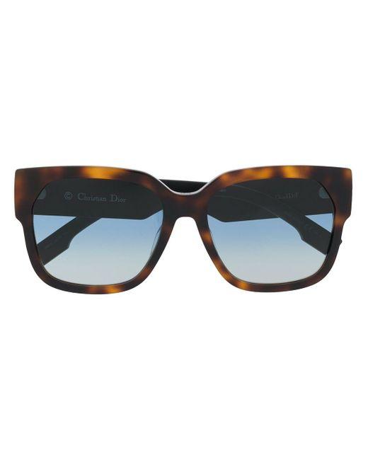 Солнцезащитные Очки В Прямоугольной Оправе Dior, цвет: Brown