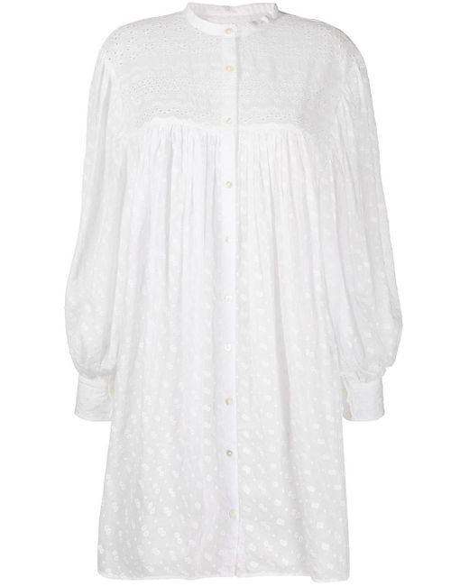 Étoile Isabel Marant アイレットレース シャツドレス White