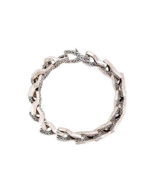 Серебряный Браслет Asli Classic Chain Link John Hardy для него, цвет: Metallic