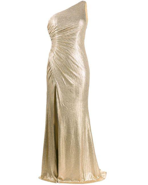 Blanca Vita ワンショルダー ドレス Metallic