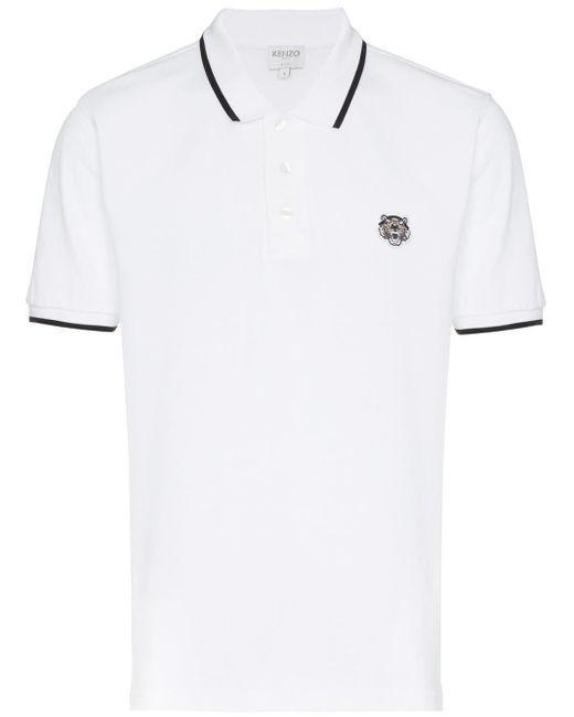 メンズ KENZO Tiger ポロシャツ White