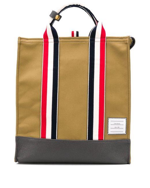 メンズ Thom Browne Rwbウェビング カンバス トートバッグ Multicolor