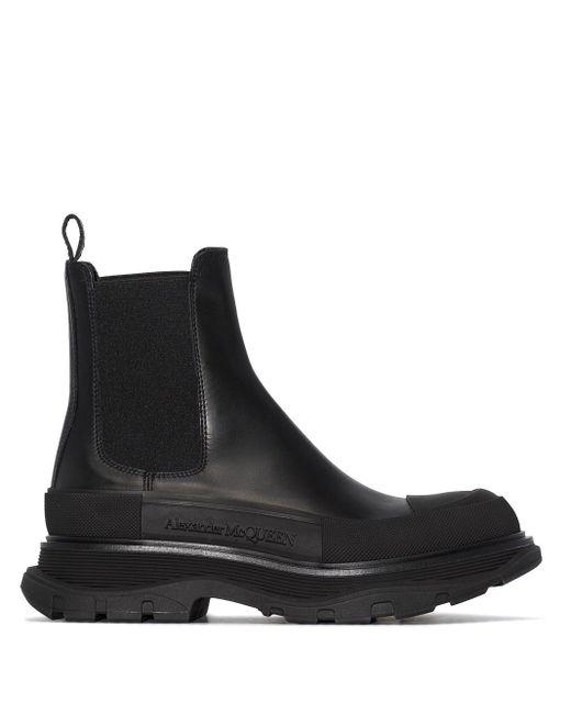 Ботинки Челси На Массивной Подошве Alexander McQueen, цвет: Black