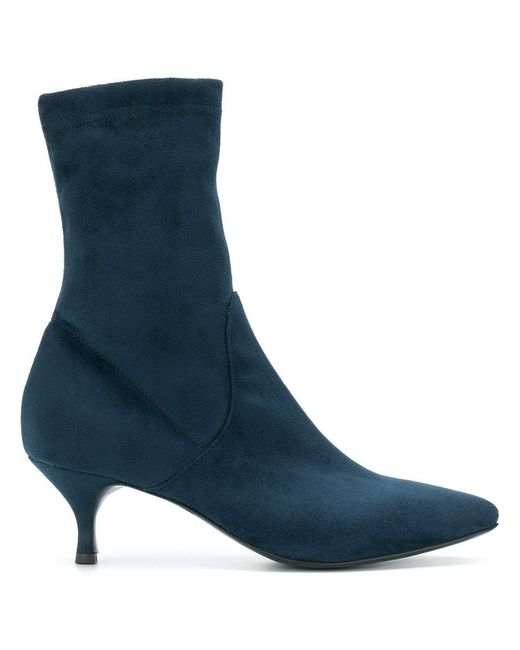 Strategia - Blue Ankle Sock Boots - Lyst ...
