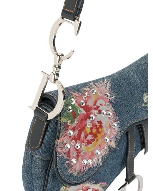 Dior プレオウンドフローラル サドルバッグ Multicolor