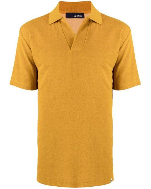 メンズ Lardini ポロシャツ Yellow