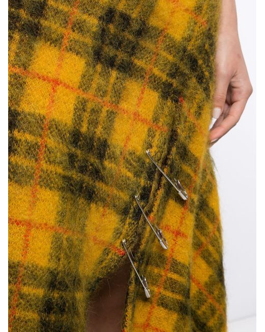 Monse チェック スカート Yellow
