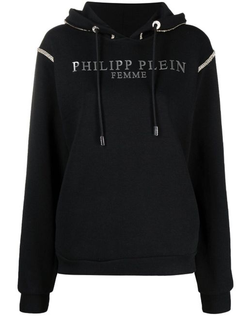 Худи Со Стразами Philipp Plein, цвет: Black
