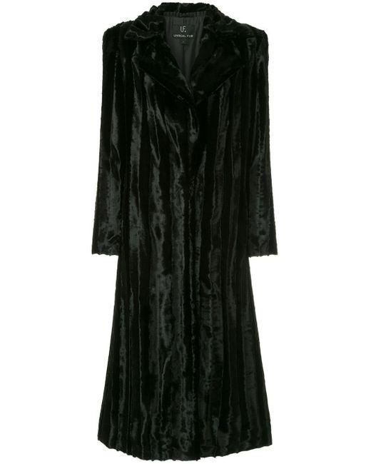 Unreal Fur Velvet Underground コート Black