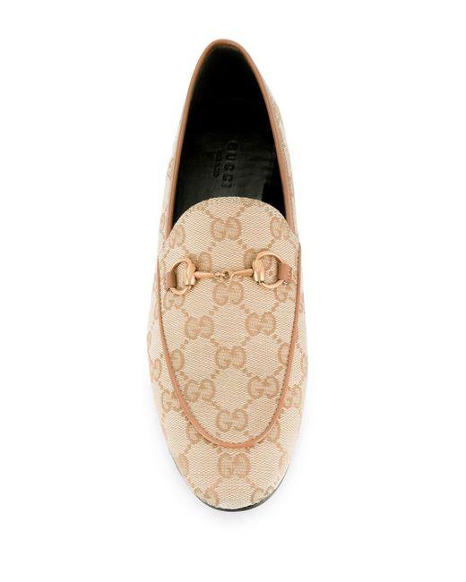 Лоферы Jordaan С Узором GG Supreme Gucci для него, цвет: Natural