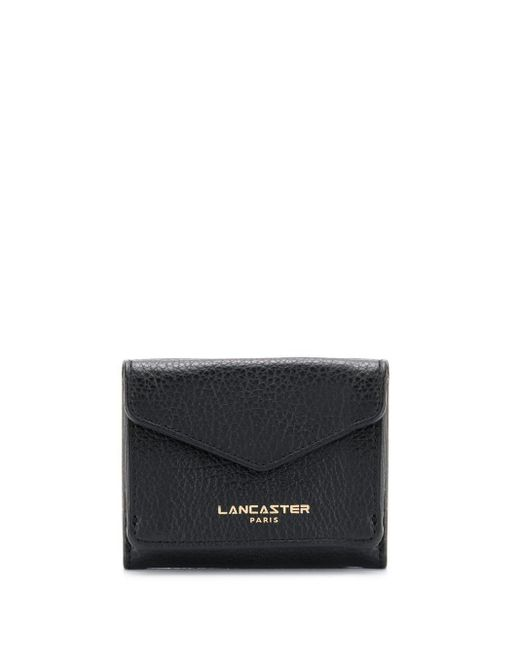 Lancaster フラップ財布 Black