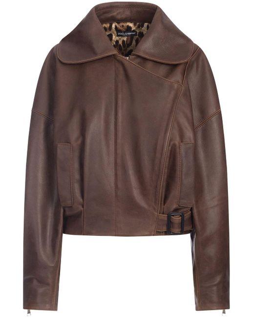 Куртка С Запахом Dolce & Gabbana, цвет: Brown