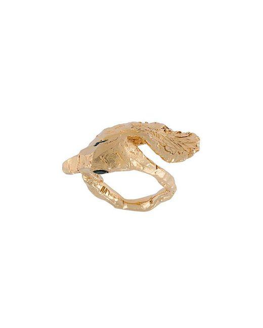 Alice Waese | Metallic Swan Ring | Lyst