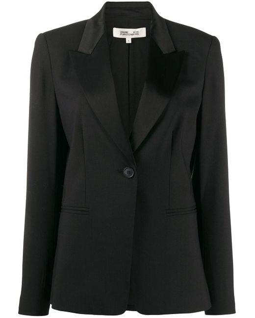 Diane von Furstenberg シングルボタン ジャケット Black