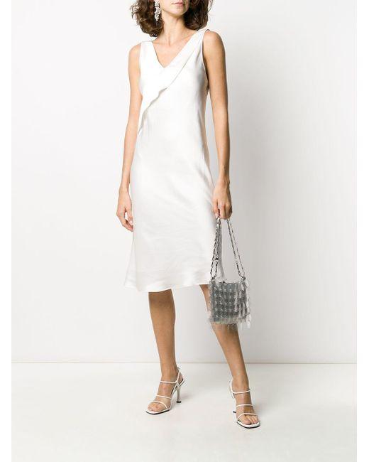 Helmut Lang Vネック ドレス White