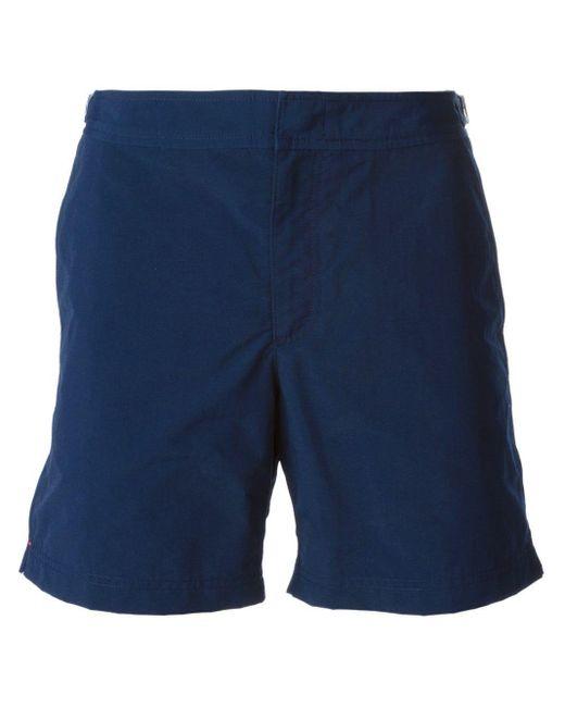 Orlebar Brown Zwembroek Bulldog Long in het Blue voor heren