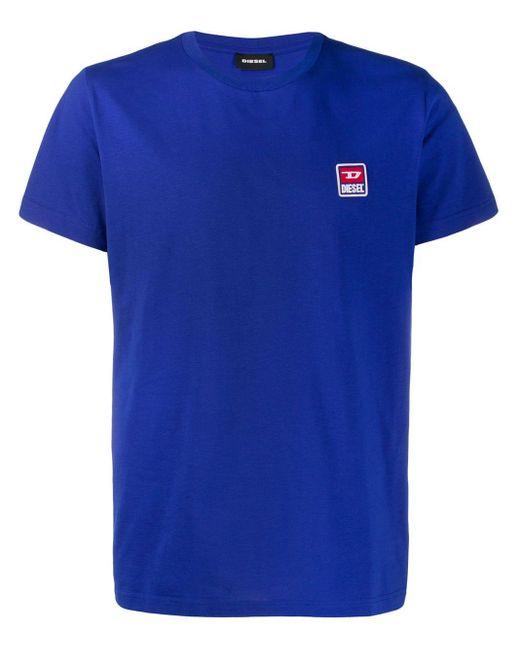 メンズ DIESEL ロゴ Tシャツ Blue