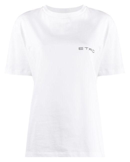 Etro ロゴ Tシャツ White
