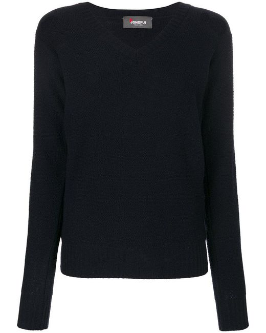 Jo No Fui - Blue V-neck Pullover - Lyst