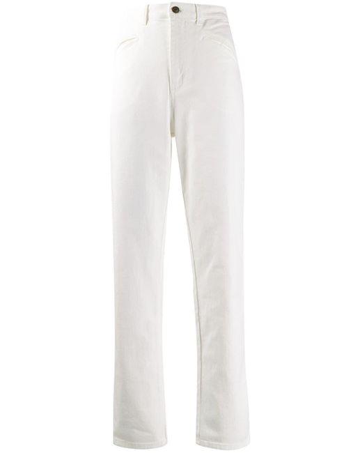 Pantalon droit à taille haute Philosophy Di Lorenzo Serafini en coloris White