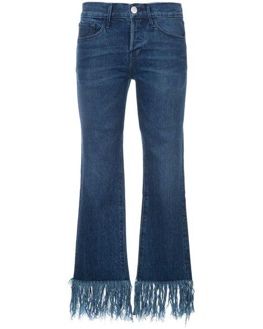 venta minorista eeada 4df91 Vaqueros con flecos de mujer de color azul