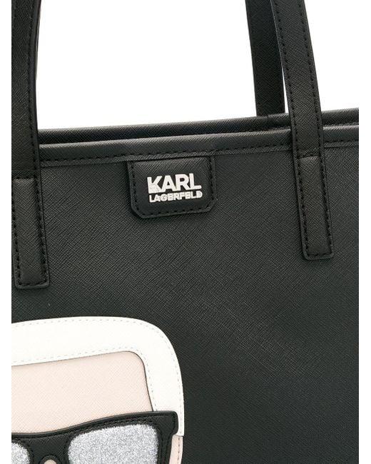 Karl Lagerfeld K/ikonik トートバッグ Black