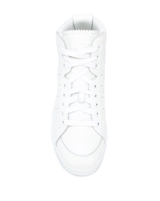 メンズ Loewe ハイカットスニーカー White