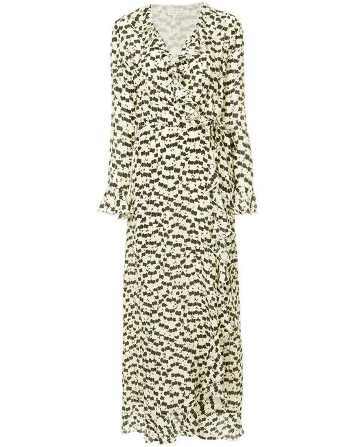 Dhela - Multicolor Printed Wrap Maxi Dress - Lyst