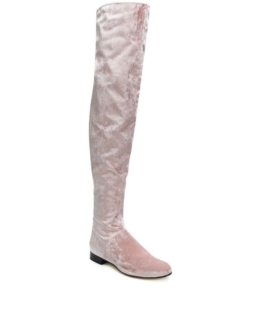 Alberta Ferretti ニーハイブーツ Pink
