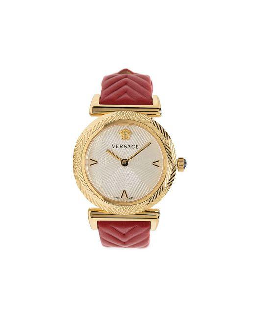 Versace Vモチーフ 35mm 腕時計 Metallic