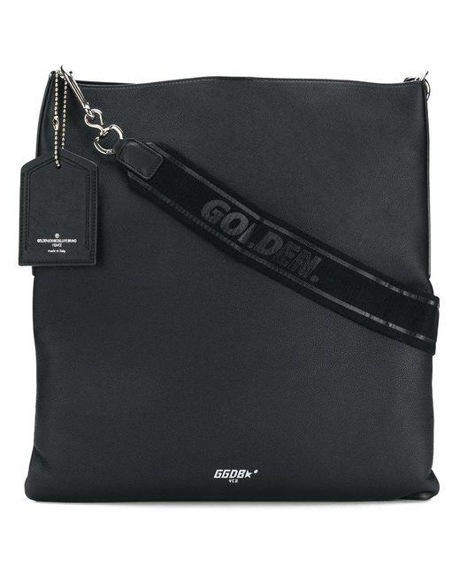 Golden Goose Deluxe Brand - Black Squared Logo Shoulder Bag - Lyst