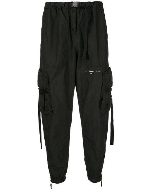 Off-White c/o Virgil Abloh Black Relaxed Fit Trousers for men