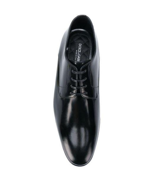 Туфли На Шнуровке С Закругленным Носком Dolce & Gabbana для него, цвет: Black